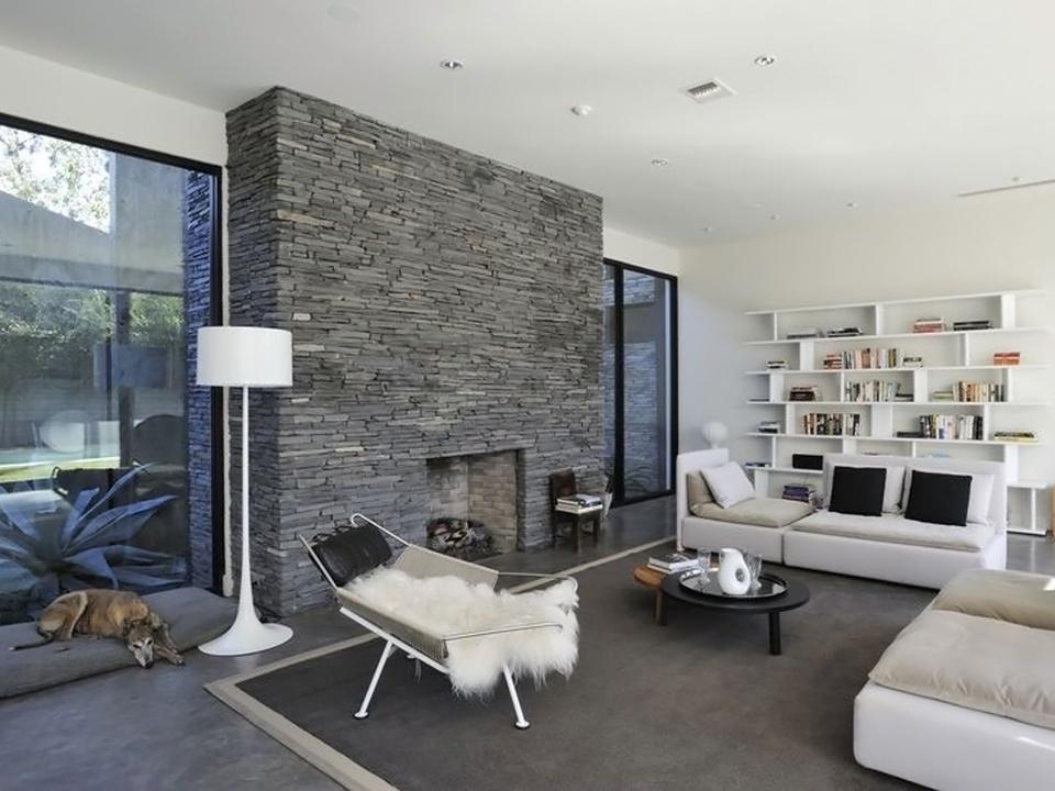 Houston Modern Home Tour September 2014 5302 Mandell St. Bianchi Architects living room