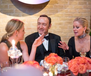 News, Shelby, Best Buddies, Kevin Spacey, Nov. 2015, Elizabeth Petersen, Kevin Spacey, Joyce Echols