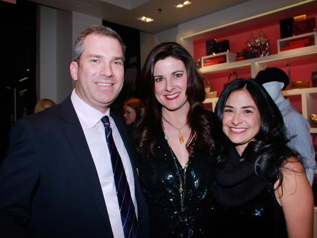 The Woodlands, Elaine Turner grand opening party, Jim Turner, Elaine Turner, Monica Garza, December 2012