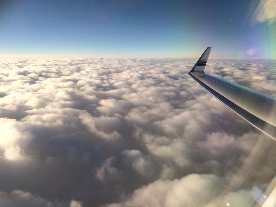 Tilman Fertitta view from jet in Biloxi May 2014