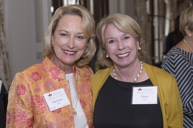 Marianne Ivany, left, and Marie Wise at the UST Houston Performing Arts Event November 2014