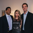 0063 13 Manish Shah, from left, Sofia Nemchenko and Seth Williams at the Houston Symphony's Young Associates Council season kick-off August 2014
