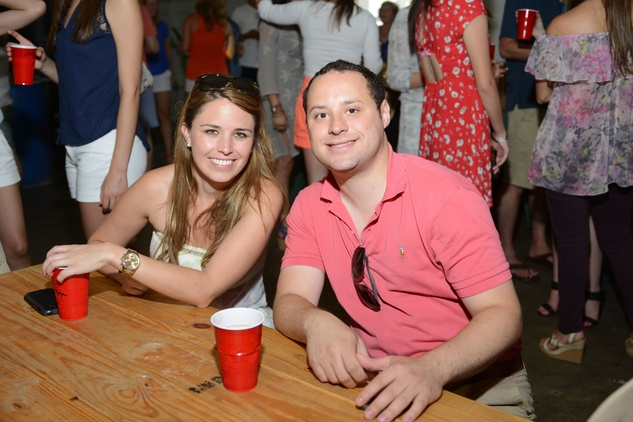 12. Megan Shonebarger and Johan Yokay at the Bayou Preservation Association Herons party June 2014