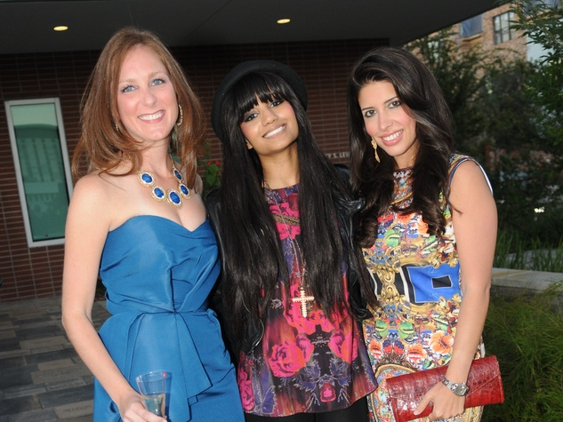 18 Lindsey Brown, from left, D.J Kalkutta and Maria Vilchez at the Dress for Success 15th anniversary party October 2013