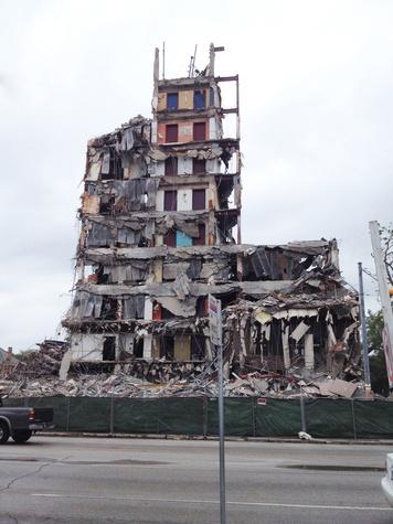 Scott Gertner Skybar building half-demolished May 2014