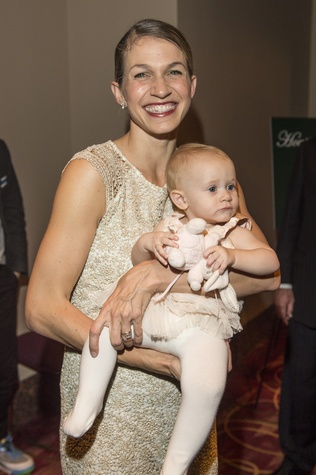 Kelly Myernick and daughter Edie at the Houston Ballet Jubilee of Dance Onstage Dinner December 2014