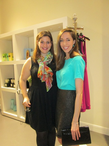 Laura Sloane, left, and AnneMarie Broussard at David Zyla at Atrium Ready to Wear January 2014