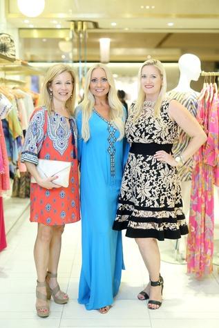 News, Shelby, Heroes for Handbags kick-off at Trina Turk, April 2015, Larissa Linton, Lori Lemon Geshay and Nicole Brende