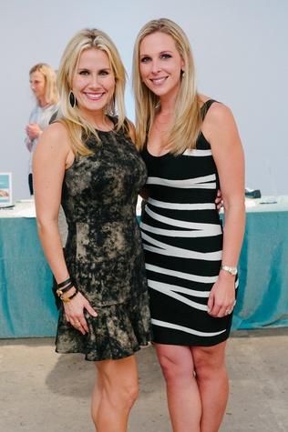 0429 Shannon Addison, left, and Ashley Rubboat Child Advocates Art Party November 2014