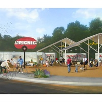 The Picnic food trailer park on Barton Springs Road artist conception