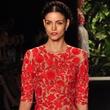 Naeem Khan floral dress, spring collection 2014