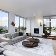 7 On the Market 21 Briar Hollow 802 penthouse with rooftop garden June 2014 living room