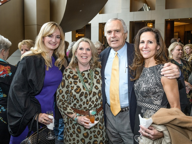 "Lindsay Holmes, from left, Charlotte James, R.H. ""Steve"" Stevens Jr. and Annette Bisby at the Trailblazer Awards Luncheon February 2014"