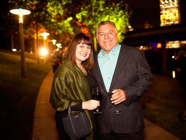 23 Anita Taylor and Rick Duran at the Buffalo Bayou Partnership's Green and Growing Gala November 2013