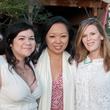 Catarina Cron, from left, Miya Shay and Carey Kirkpatrick at the Urban Green Birthday en Blanc May 2014