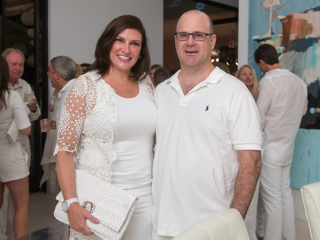24 Rosemarie and Matt Johnson at the Texans White Party September 2014