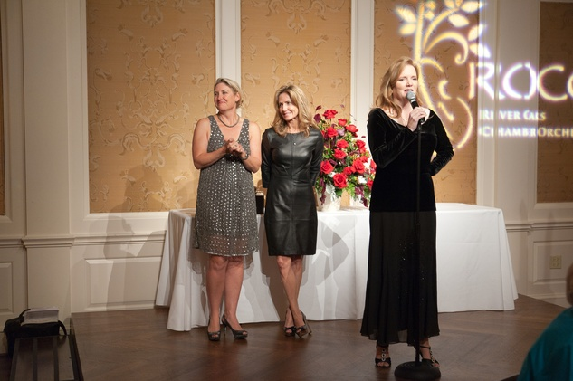 127 Melissa Hobbs, from left, Kit Gwin and Alecia Lawye at the River Oaks Chamber Orchestra Gala September 2014