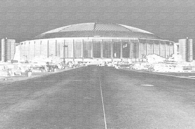 Astrodome line drawing sketch