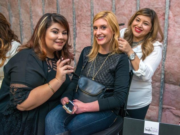 6 Lally Sanchez, Grace Coonrod, Krystal Soliz at the CultureMap Social at Gateway November 2014