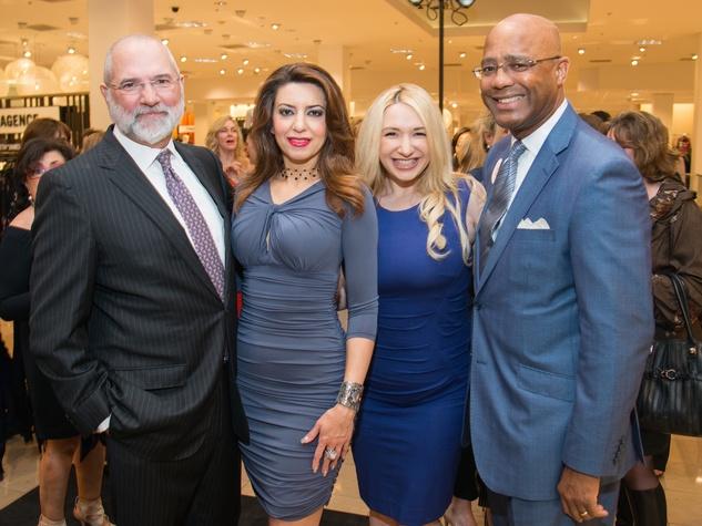 Bob Cavnar, Parissa Mohajer, Anna Kaplan, Michael Pearson at Dress for Dinner