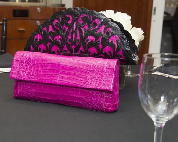 Colorful bags at Nancy Gonzalez at Saks Fifth Avenue November 2014