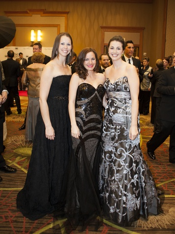 Rachel Bowers, Emily Dunn, Lindsey Crabtree, Black Tie Dinner