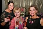 Komen pink party 1.	Tania Leskovar-Owens, Deb Davis Groves, Christy Casey-Moore