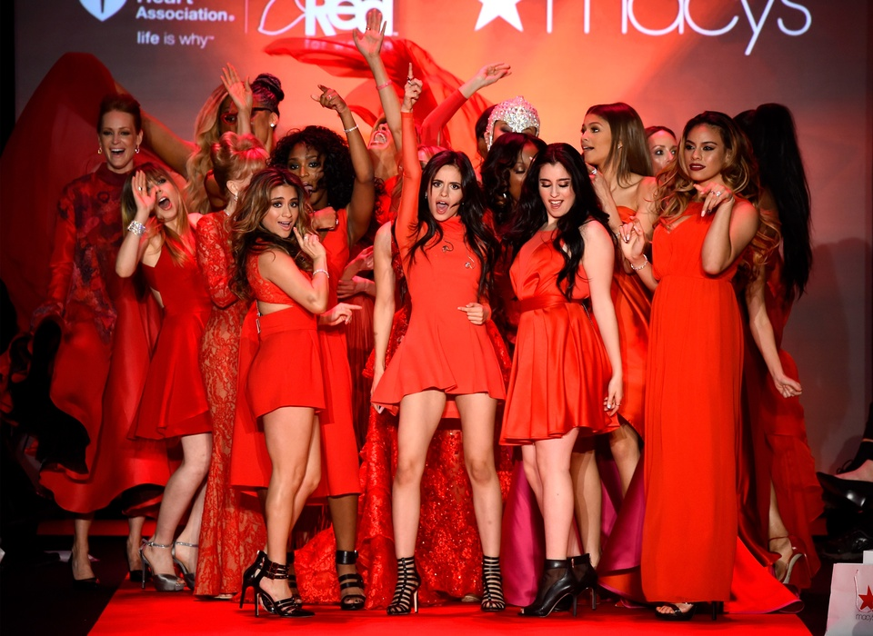 33 Clifford New York Fashion Week Fall 2015 Go Red for Women February 2015 Group photo