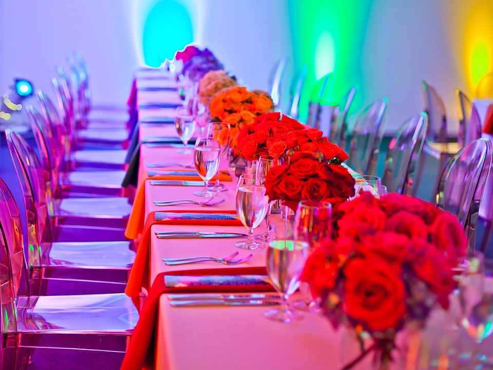 Houston, Blaffer Art Museum Color Splash Gala, April 2017, decor