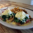 Eggs Benedict at Oddfellows in Bishop Arts District in Dallas