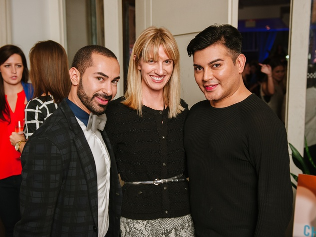 15 Fady Armanious, from left, Chris Goins and Edward Sanchez at the CultureMap Social at Saint Genevieve October 2013