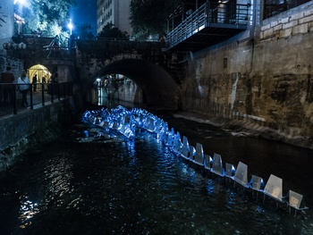 Watch Waller Creek light show magically transform downtown Austin