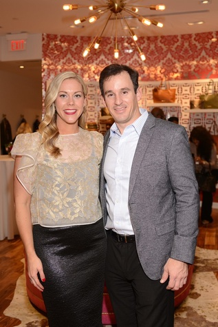 3 Heather McLeskey and Shawn Conerly at the Elaine Turner BLVD Place Grand Opening Party December 2014