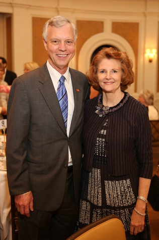 Houston, News, Shelby, Partners Luncheon, April 2015, Tom and Joyce Standish