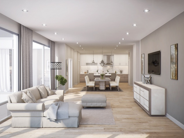 The Wilshire at River Oaks District renderings April 2015 14th floor unit