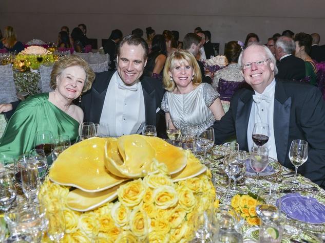 Lynn Guggolz, Brandon Jovanovich, Zane Carruth, Brady Carruth at the Opera Ball April 2014