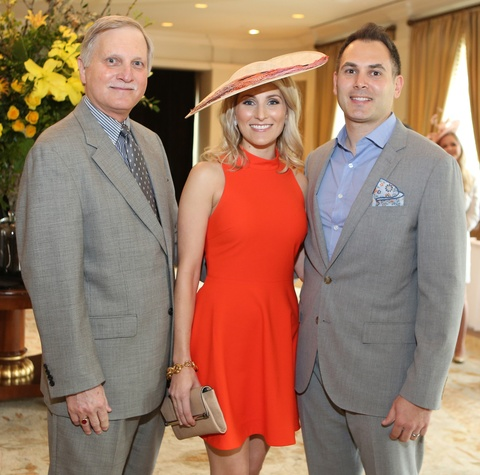 3 Edwin Cabra, left, with Keely and Bill Thorne at Hats Off to Mothers luncheon March 2015