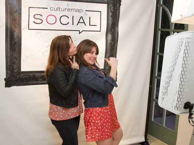 CultureMap Social Laguna Gloria March 2015 Mary Ellen Patranella Morgan Cook Photo Booth