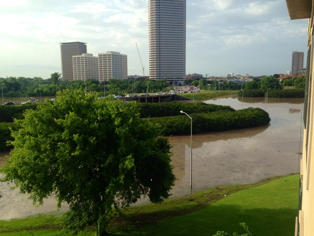 Flooding at Allen Parkway and Waugh Drive
