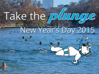 Annual Barton Springs Polar Bear Splash 2015