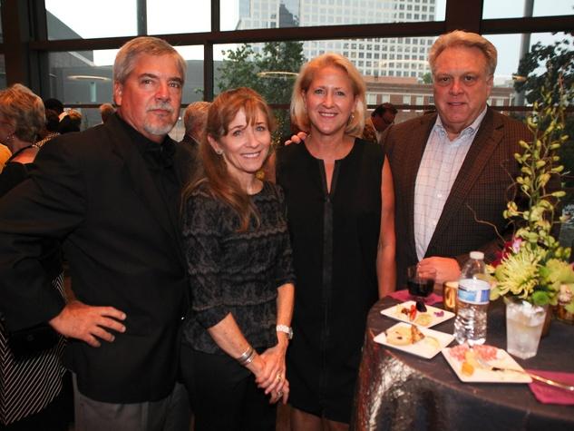 Richard Osteen, Beverly Osteen, Melissa McRoberts, Andrew McRoberts, Aretha Franklin