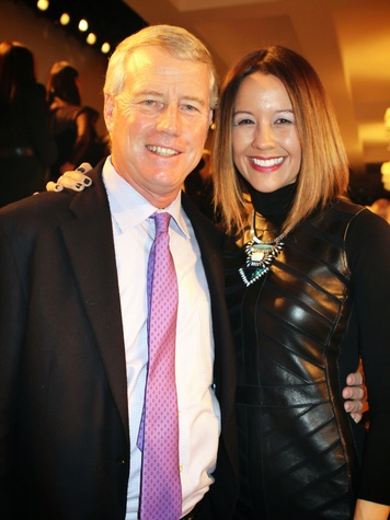 Bob Hogan and Carrie Colbert September 2014 at Ralph Lauren show NY