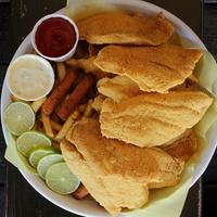 Fried fish at Hook, Line & Sinker restaurant in Dallas