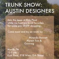 Kick Pleat_Austin designer trunk show_March 2015