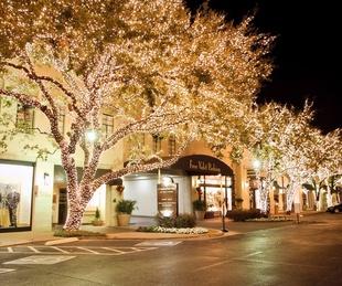Christmas lights in Highland Park Village