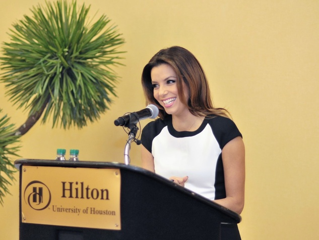 Eva Longoria at University of Houston November 2013