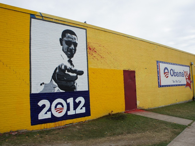 Breakfast Klub, new mural, October 2012, Barack Obama