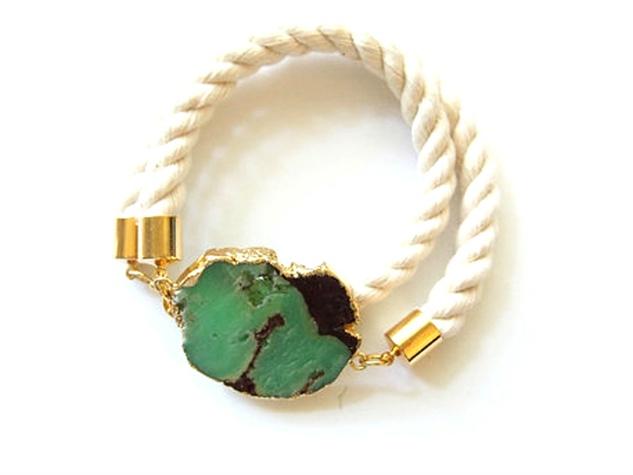 turquoise rope bracelet, sunshine tienda