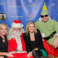 Don't Stop Believin' party, December 2012, Erica Gillum, Cory Krueger, Stephanie Jennische, Buddy the Elf