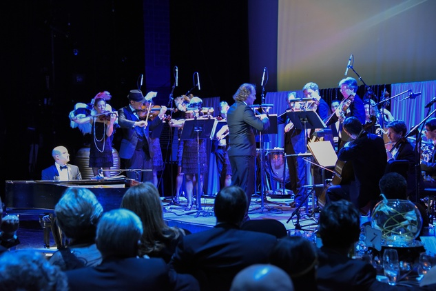 12 Mercury musicians with Antoine Plante conducting at the Mercury Gala 2015 March 2015